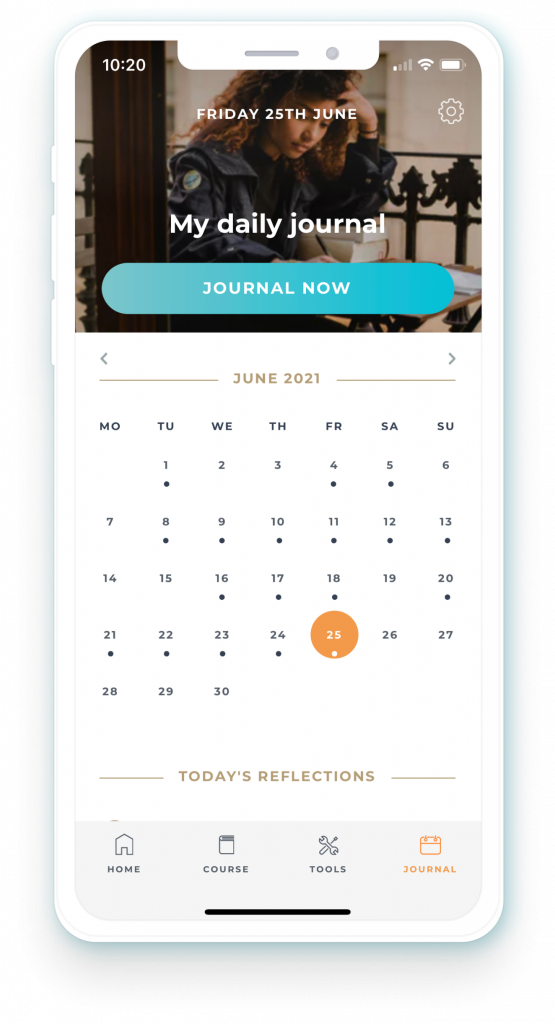 Daily Journal to get your thoughts down and out
